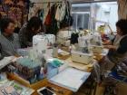 水戸辺仮設住宅の縫い物サークル(2012年6月)