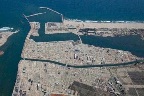 震災後の閖上(2011年4月) 名取市における東日本大震災の記録ホームページより